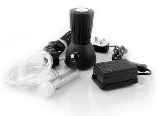 The Herbal AIRE Vaporizer is a forced air vaporizer with Dual Functionality options that utilizes both a direct inhalation and balloon fill system.